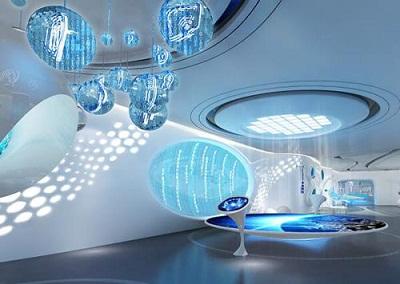 博物馆,体验馆,科技馆等 数字展厅设计中,人们沉浸于交互式的三维虚拟