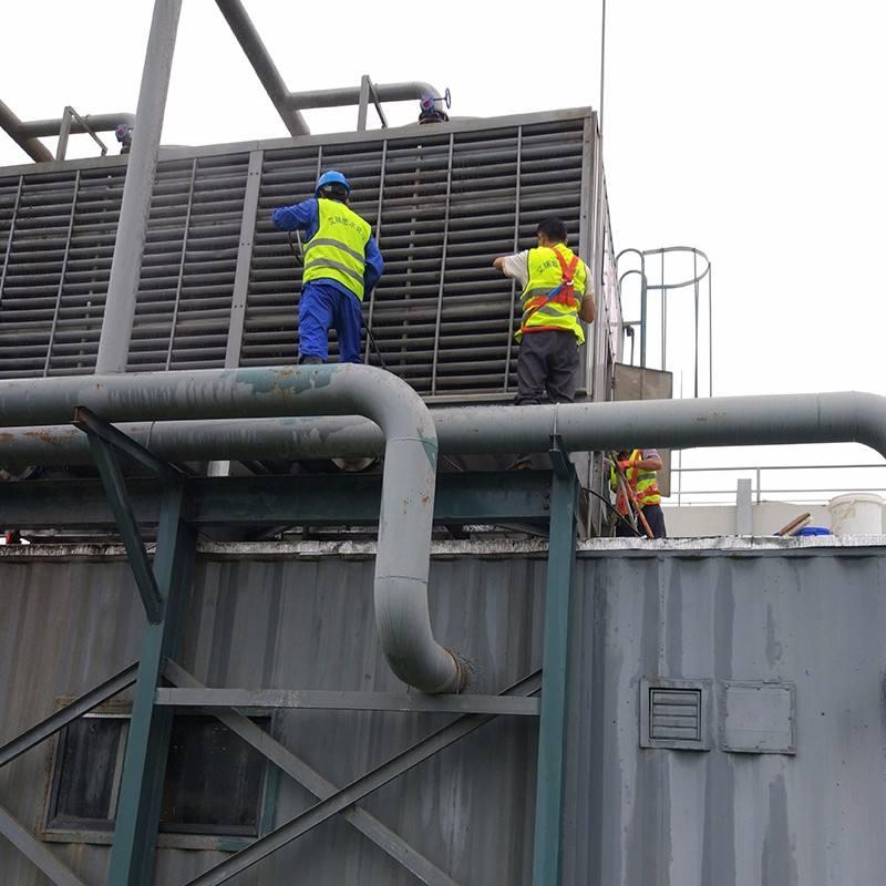清洗中央空调冷却塔最有效的办法?
