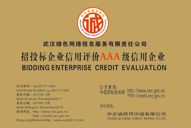 武漢中小企業信用評級