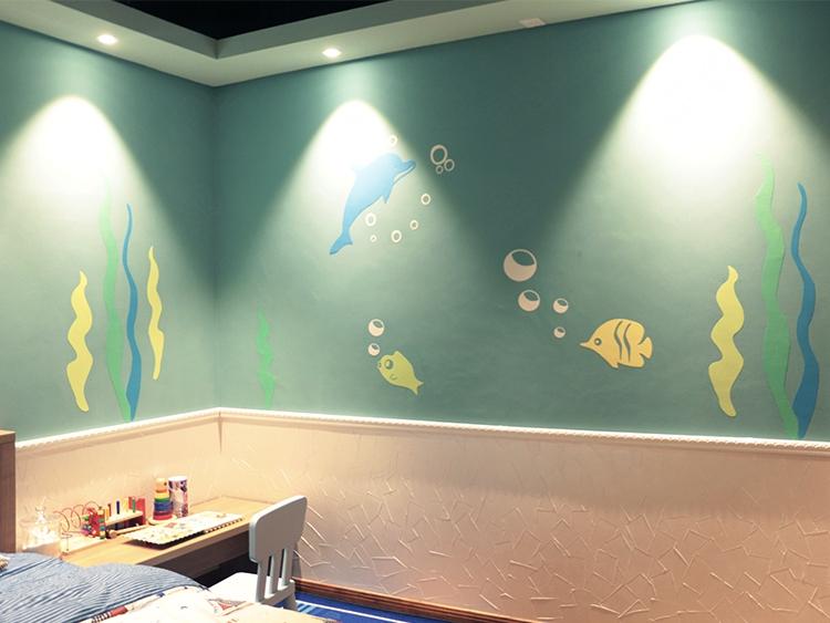 硅藻泥儿童房效果图