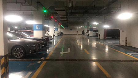 华睿智兴车位引导系统入驻福星吉瑞酒店
