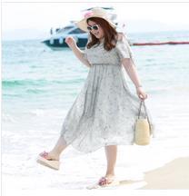 来料检验按标准 大码雪纺连衣裙产品质量有保证