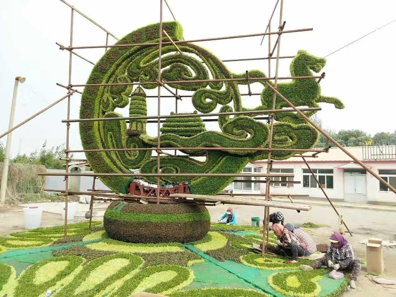 延伸拓展 产品详情:40组原创设计绿雕装点花博会 快来一起感受银川绿