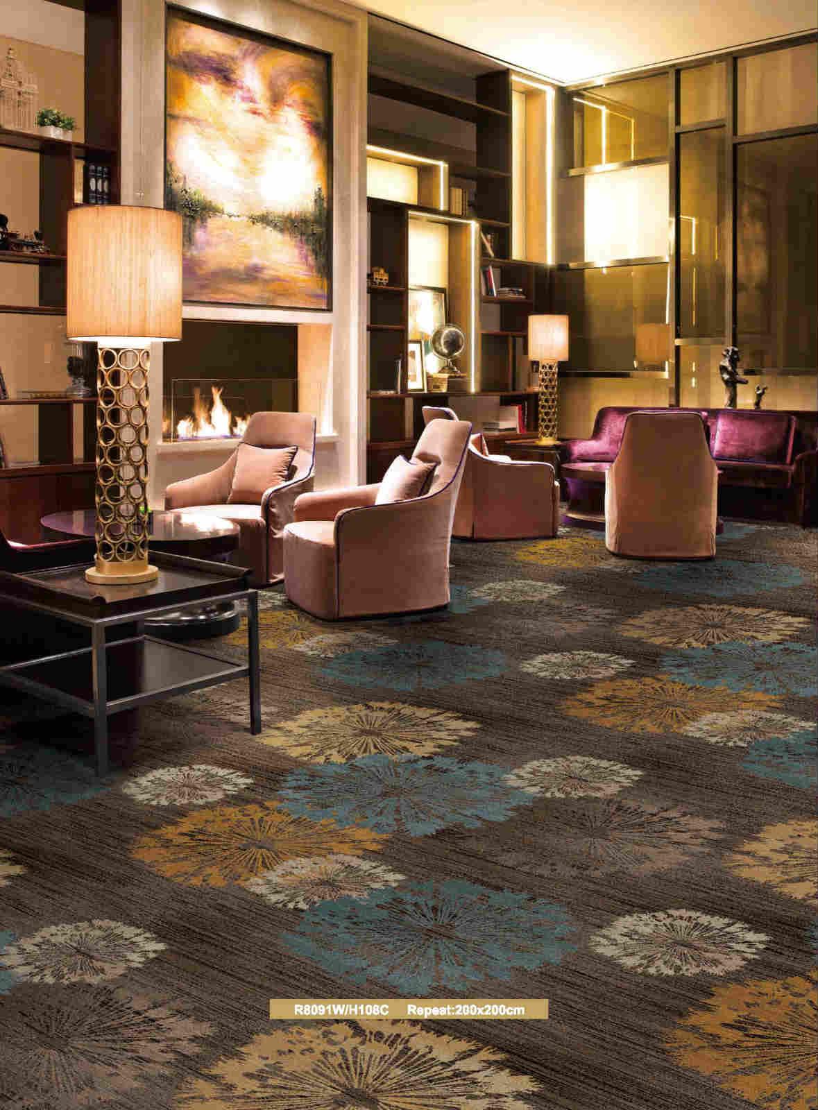 尼龍阻燃辦公方塊地毯設計定制