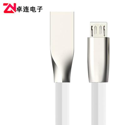 安卓通用鋅合金菱形micro數據線快充線產品供應批發