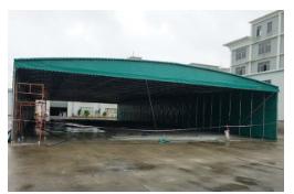 辽皓钢构提供景观棚膜结构